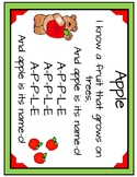 Apples poem and pocket chart activity