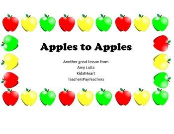 Apples preschool lesson plan