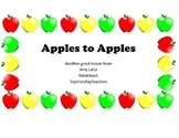 Apples preschool lesson plan