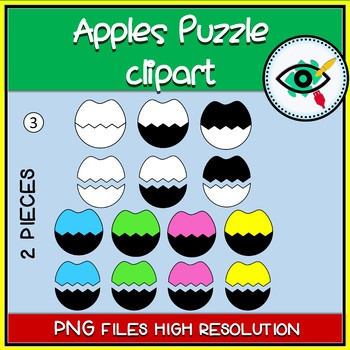 Apples puzzles clipart
