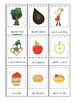 Apples themed 3 Part Matching Game.  Printable Preschool Game