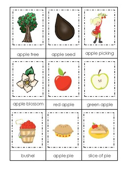 photograph relating to Apples to Apples Cards Printable identified as Apples themed 3 Section Matching Video game. Printable Preschool Sport
