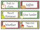 Apples themed Printable Class Jobs Labels Classroom Bulletin Board Set.