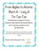 Apples to Acorns: Discriminating Between Long and Short A