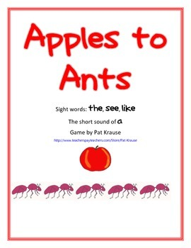 Short a sound - Apples to Ants