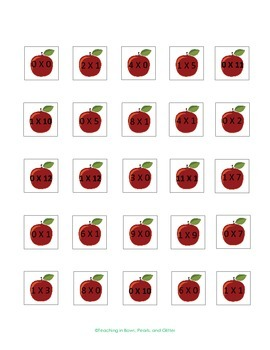 Apples to Apples 0 & 1 Multiplication Activities