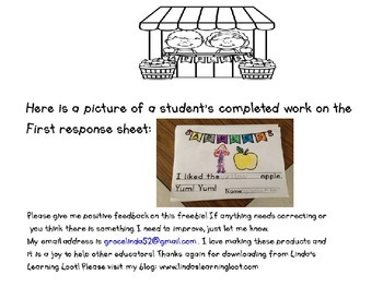 Apples to Apples: A Picture Graphing FREEBIE with Writing Resources