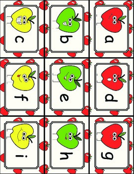 Apples to Apples Alphabet Match