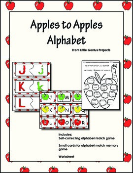 Apples to Apples Alphabet Match