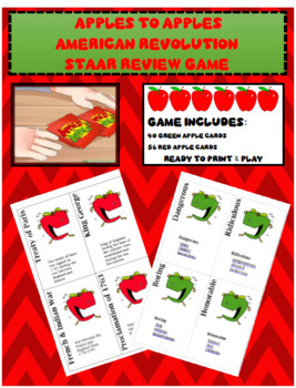 Apples to Apples American STAAR Revolution Review