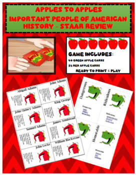 Apples to Apples - Important People in American History STAAR Review