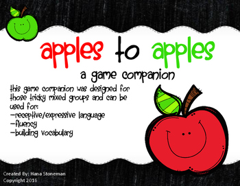 Apples to Apples Game Companion