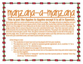 Apples to Apples - Manzanas a Manzanas
