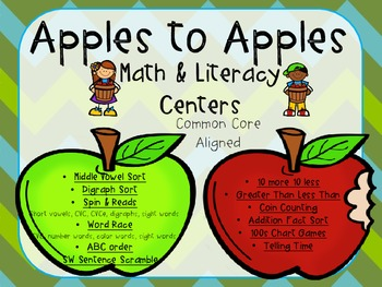 Apples to Apples Math & Literacy Pack B (1st Grade CCSS)