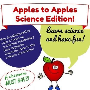 Apples to Apples Science Inquiry Game   Middle School Science Games