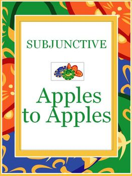 Apples to Apples Subjunctive Spanish 15-pages
