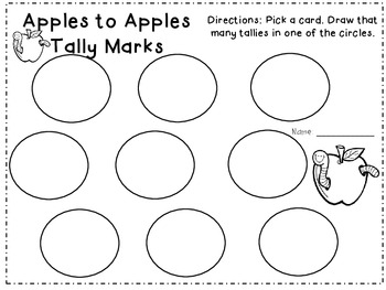 Apples to Apples Tallies FREEBIE
