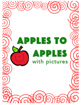 Apples to Apples with pictures