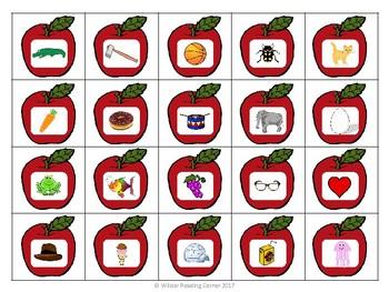 Apples to Buckets- Beginning Sound Activity