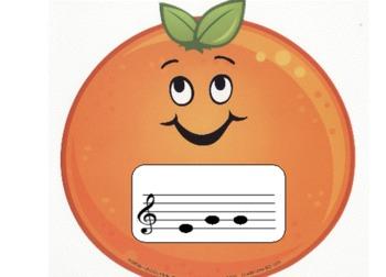 Apples to Oranges: A Treble Clef Activity