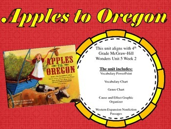 Apples to Oregon- 4th Grade McGraw-Hill Wonders
