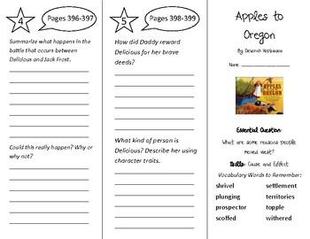 Apples to Oregon Trifold - Wonders 4th Grade Unit 5 Week 2