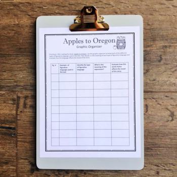 Apples to Oregon graphic organizer