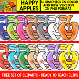 Apples with Happy Faces - Free Clipart set