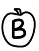 Apple with letters