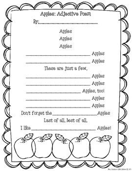 Apples:An Adjective Poem