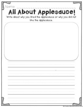 Applesauce Activities Freebie