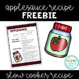 Applesauce *FREEBIE* {Hands on Science Slow Cooker Recipe}