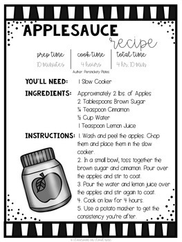 Applesauce *FREEBIE* {Hands on Science Slow Cooker Recipe}