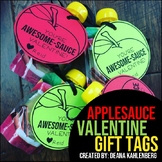 Applesauce Valentine Tags
