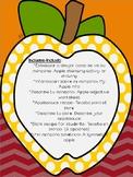 Applesauce activity packet Spanish- Puré de manzanas actividades