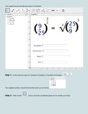 Applet Instructions for Students N.RN.1 Rational exponents