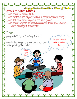 Appletastic Go Fish Numbers 0-10 Common Core Math