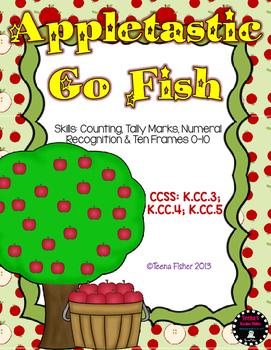 Appletastic Go Fish Numbers 0-10 Common Core Math