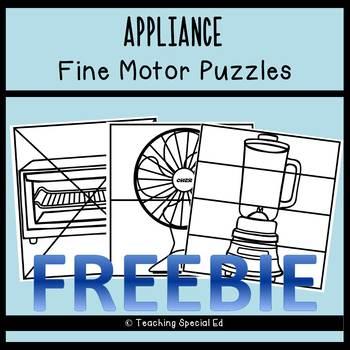 Appliance Fine Motor Puzzles - FREEBIE