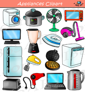 Appliances Clipart - Household Electronics Set
