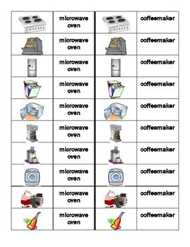 Appliances in English Dominoes
