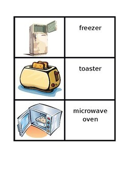 Appliances in English House Concentration games