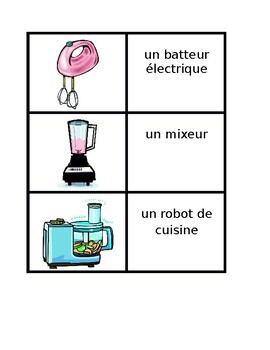 Appliances in French Maison Concentration games