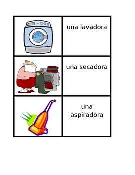 Aparatos (Appliances in Spanish) Concentration games