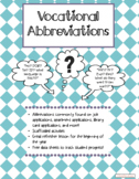 Application Abbreviations Flashcards Task box for Adult Tr