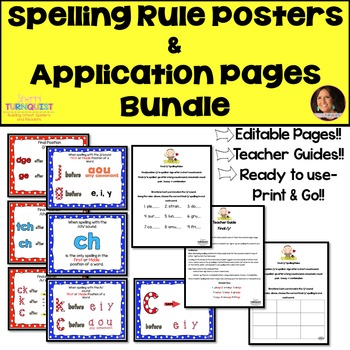 Application Pages Set {Editable Pages} & Spelling Rule Posters Bundle