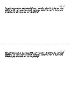 Application Problem Journal - Engage NY/ Eureka 4th Grade Module 3