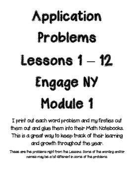 Application Problems Engage NY Module1 Lessons 1-12