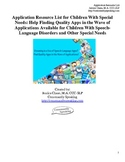 Application Resource List