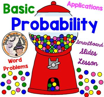 Application of Basic Probability Word Problems Smartboard Lesson